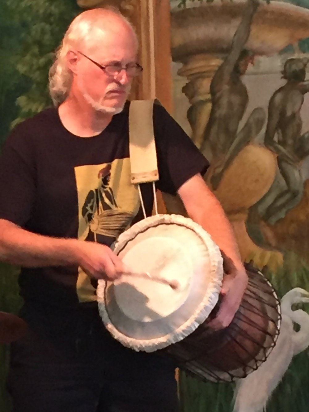 Ian on Talking Drum at the Throckmorton Theatre