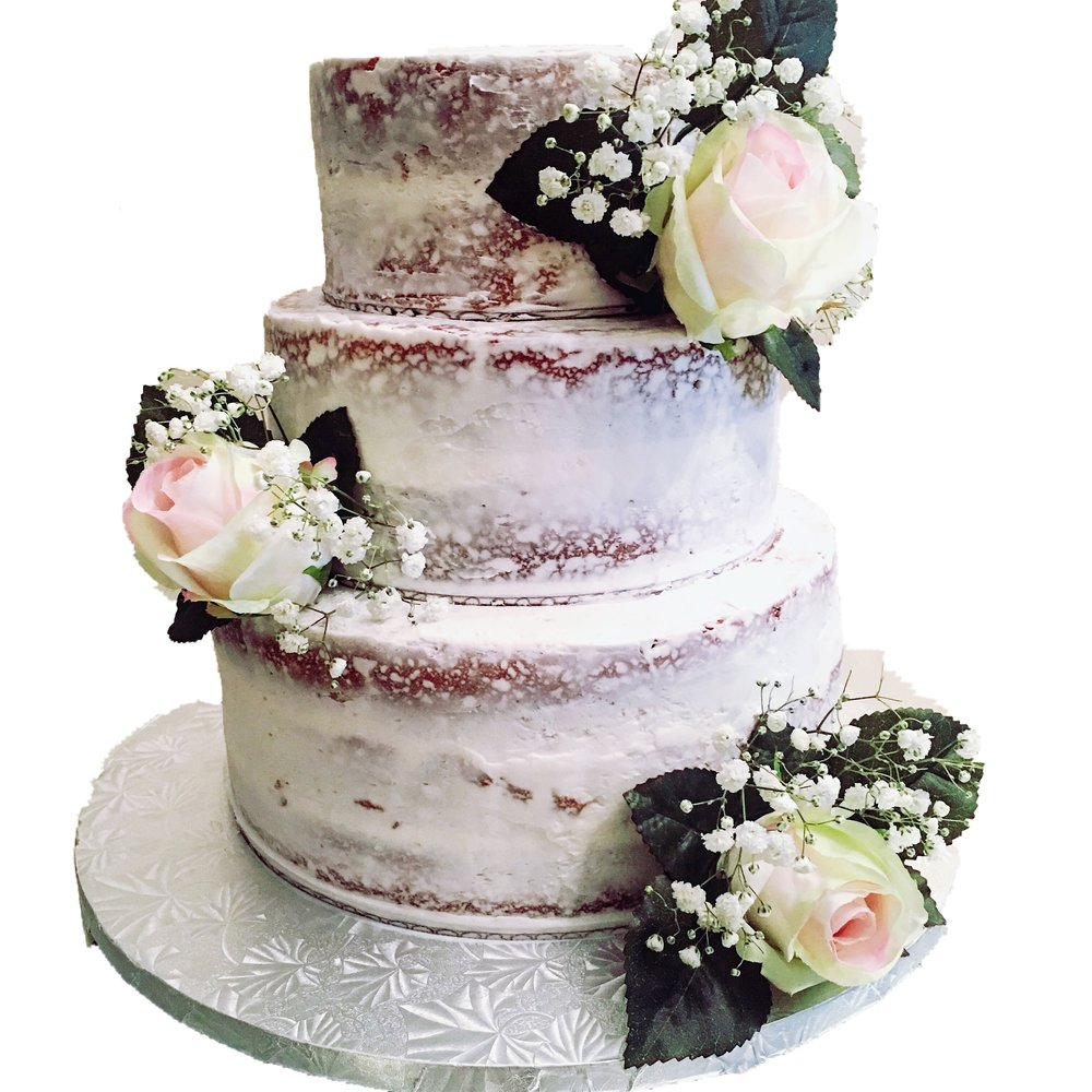 Three Tiered naked cake