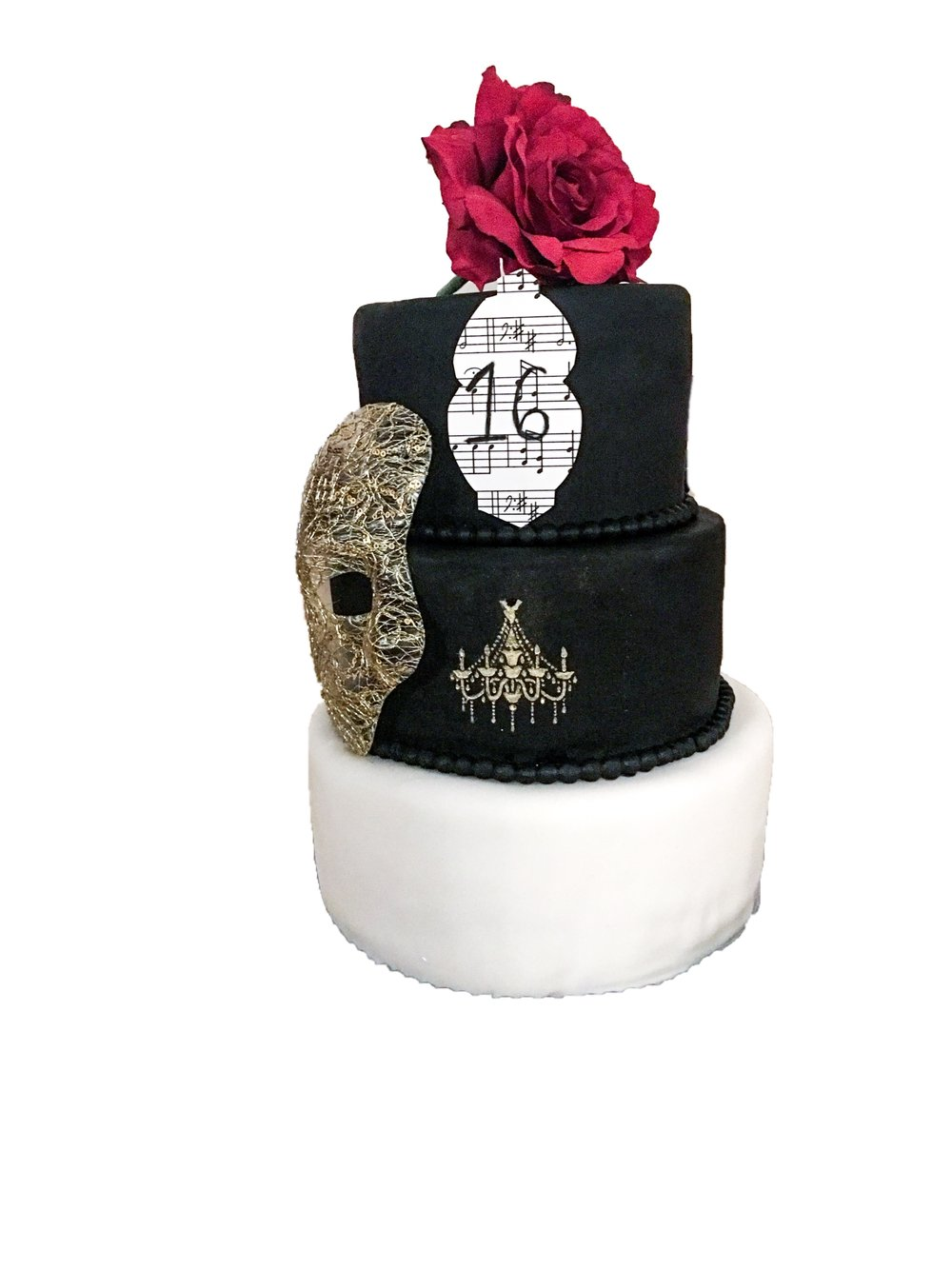 Phantom of the Opera Mask Cake
