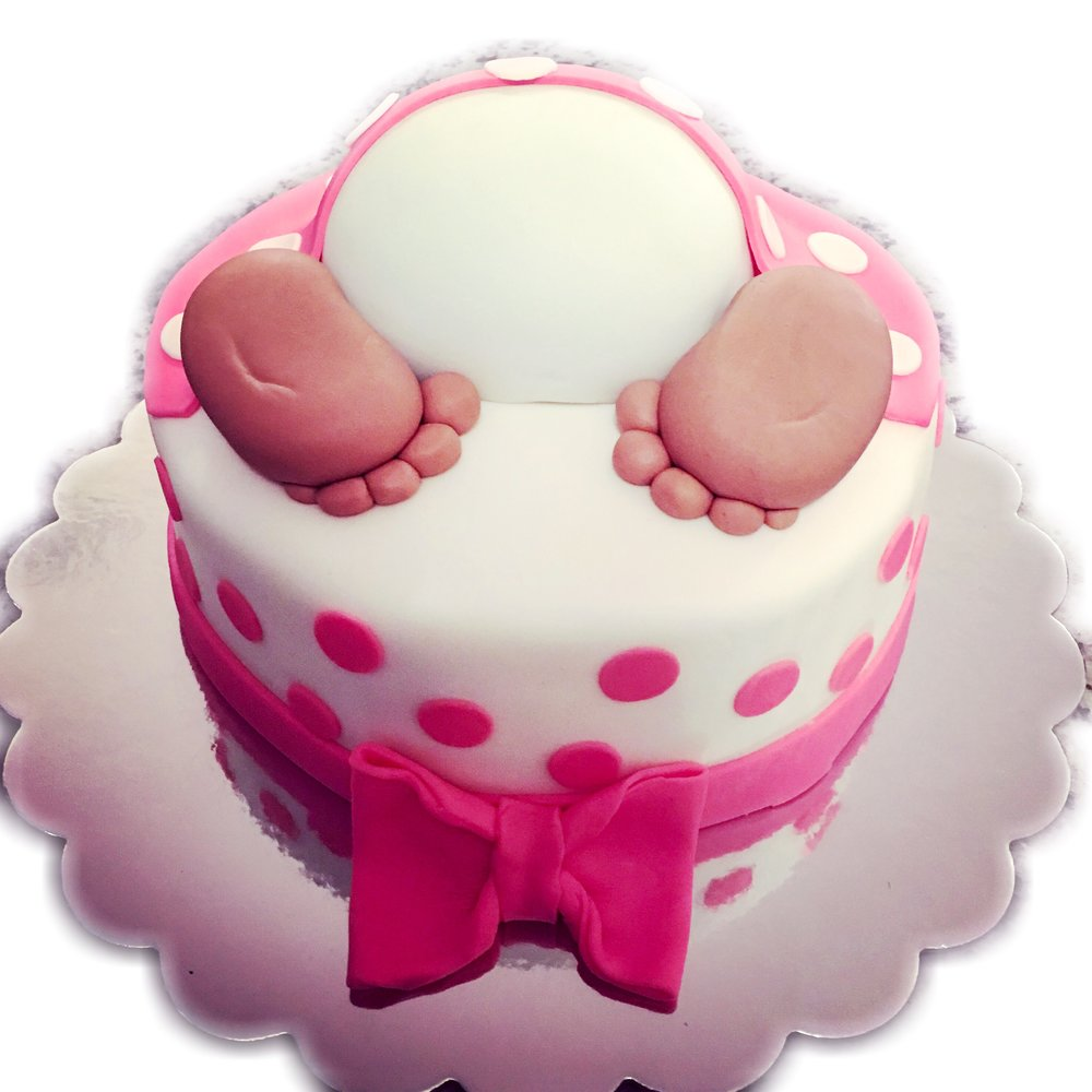 Baby Bottom Shower Cake