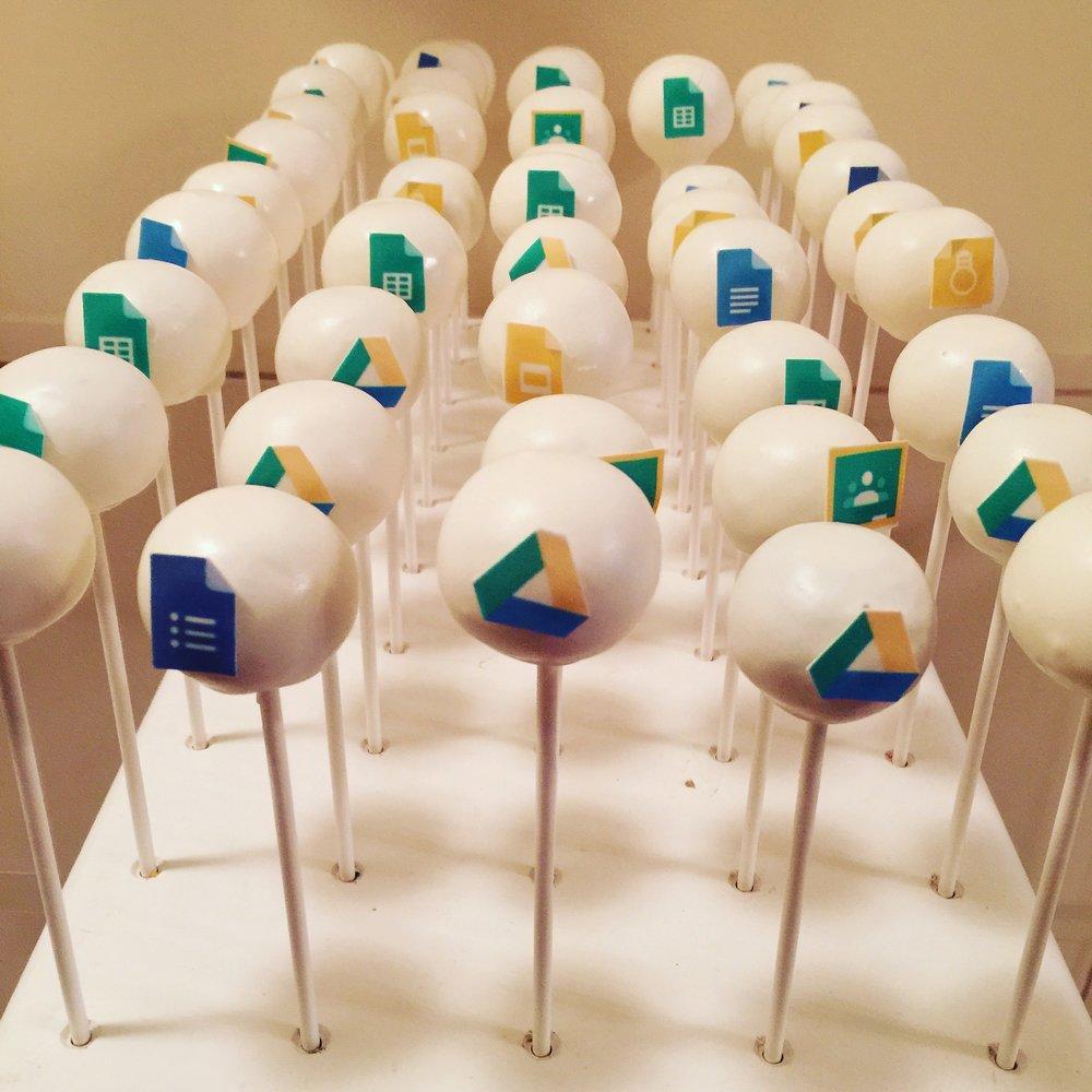 Google Logo Cake pops
