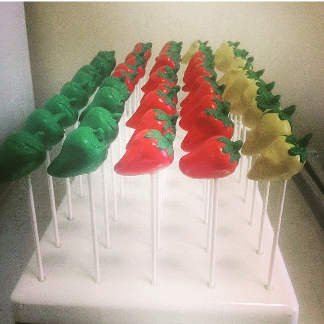 Chilli Pepper cake pops