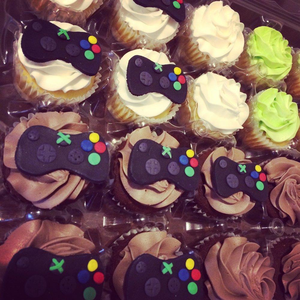 Custom X-Box Cupcakes