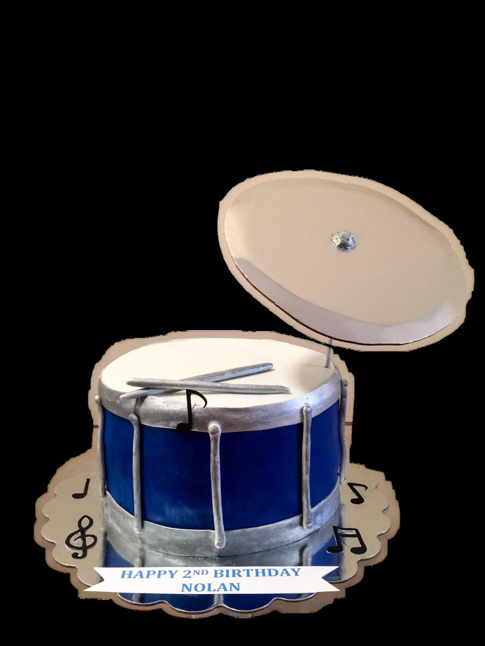 Drum & Symbol Cake