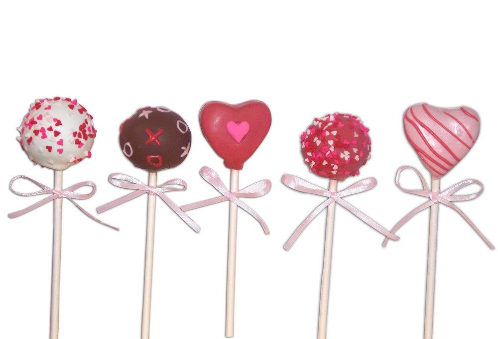 V-day Cake pops
