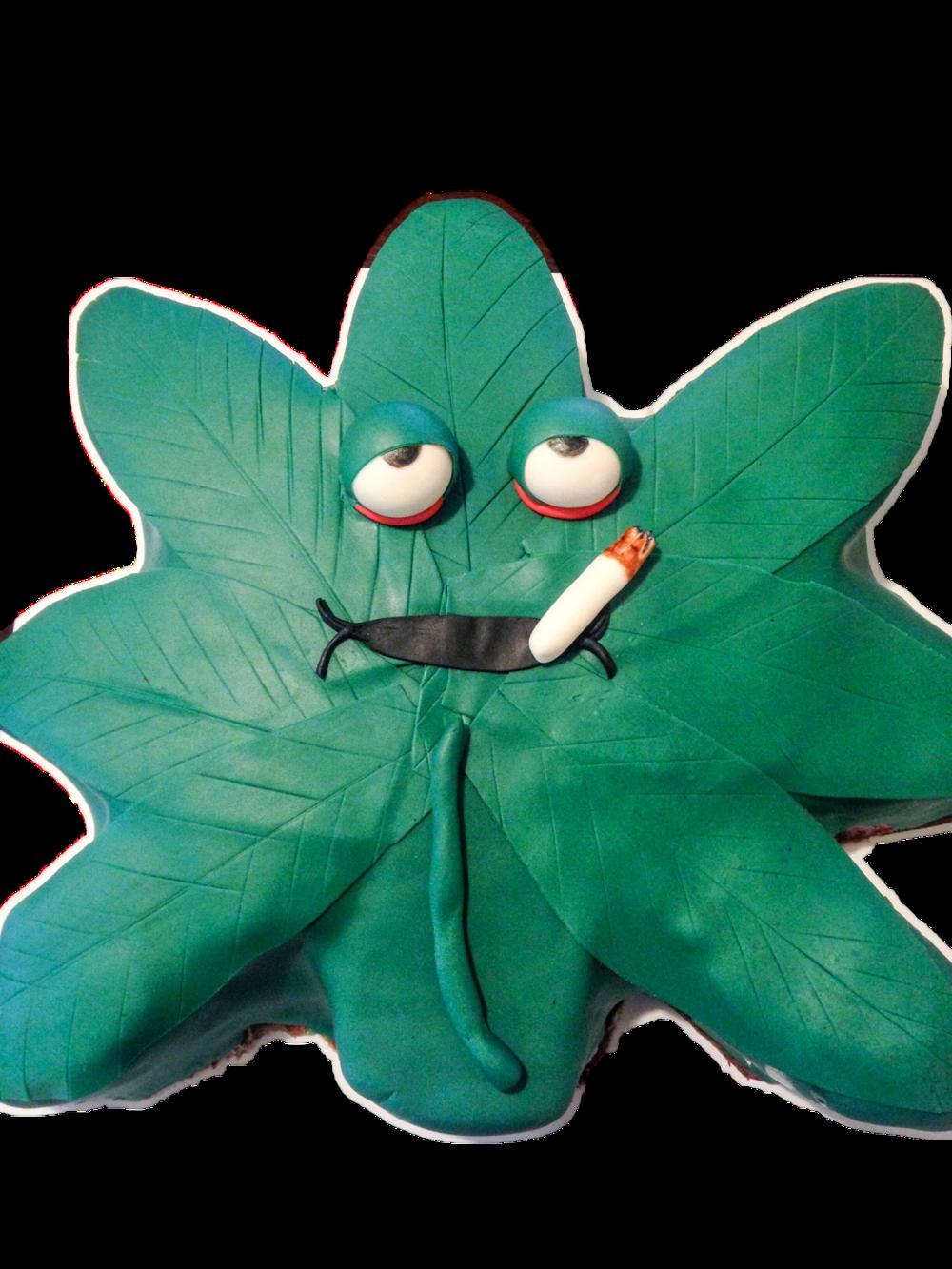 Weed leaf Cake