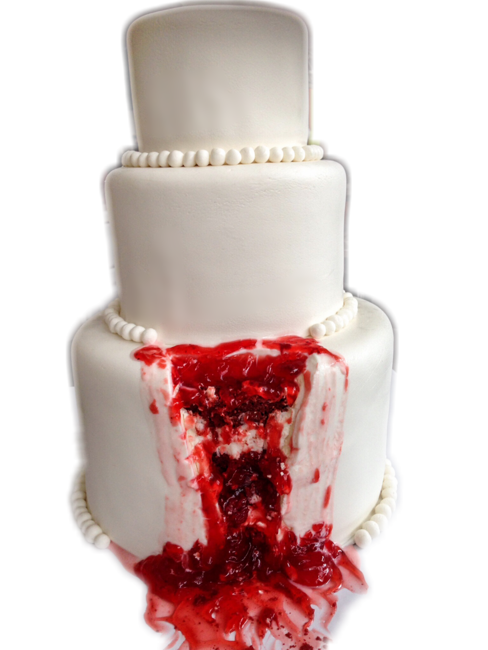 Bloody Halloween Wedding Cake