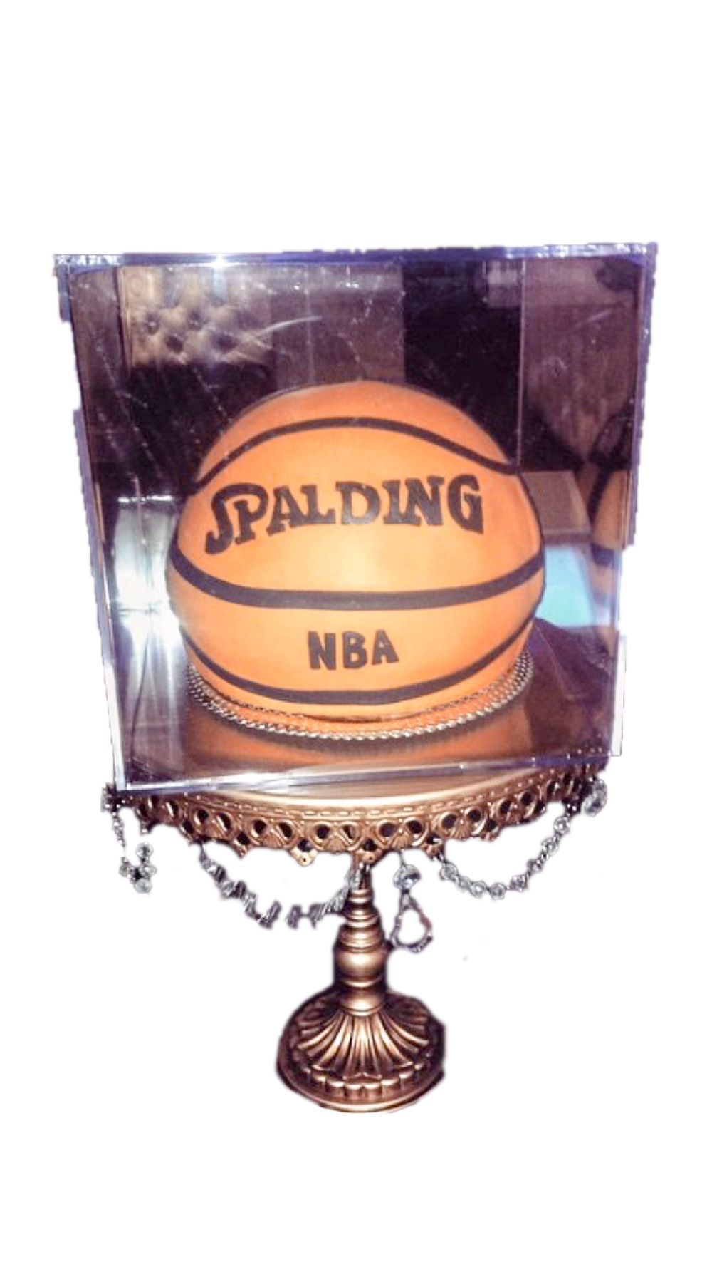 Basket Ball Encased Cake