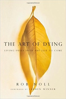 "The Art of Dying: Living Fully into the Life to Come  by Rob Moll  Rob Moll has worked as a journalist, hospice volunteer and with World Vision. Here, he reintroduces the Christian tradition of preparing for a ""good death"". In this tradition death becomes a significant spiritual event for both individual and community."