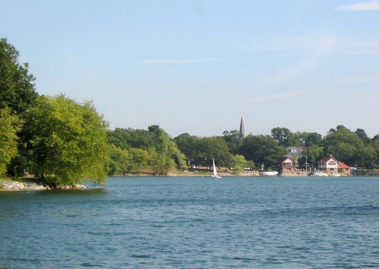 Jamaica Pond, Jamaica Plain, MA.