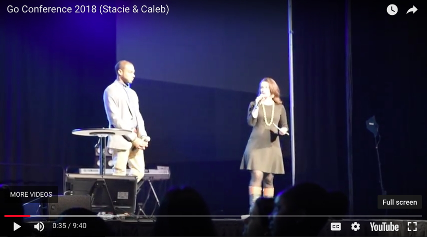 Stacie Mickelson and Caleb McCoy of Emmanuel Gospel Center, GO Conference, Springfield, MA, February 17, 2018.