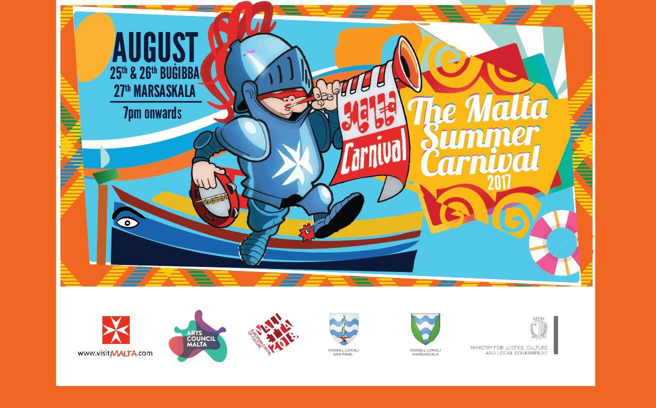 fifth edition of the summer carnival launched festivals malta