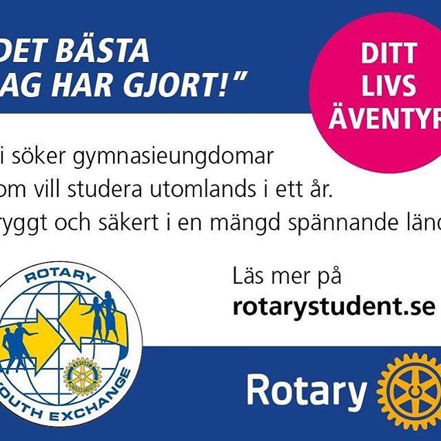 Elever i nian på högstadiet, ettan och tvåan på gymnasiet! Nu är det tid att ansöka till Rotarys ettårsutbyte  läsåret 2019-2020 i en mängd olika länder.