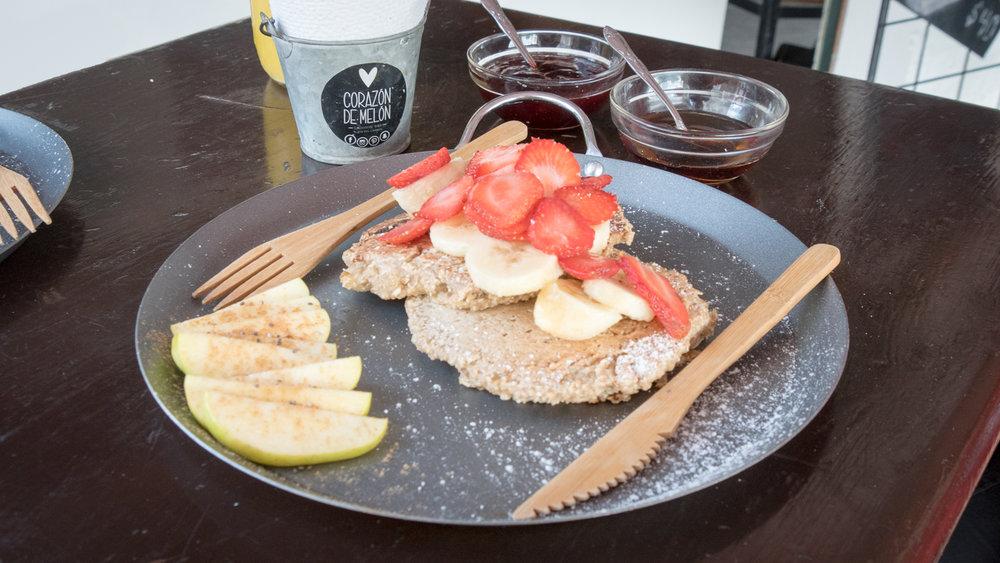 Vegan-Waffles-at-Corazon-de-Melon-in-Playa-del-Carmen