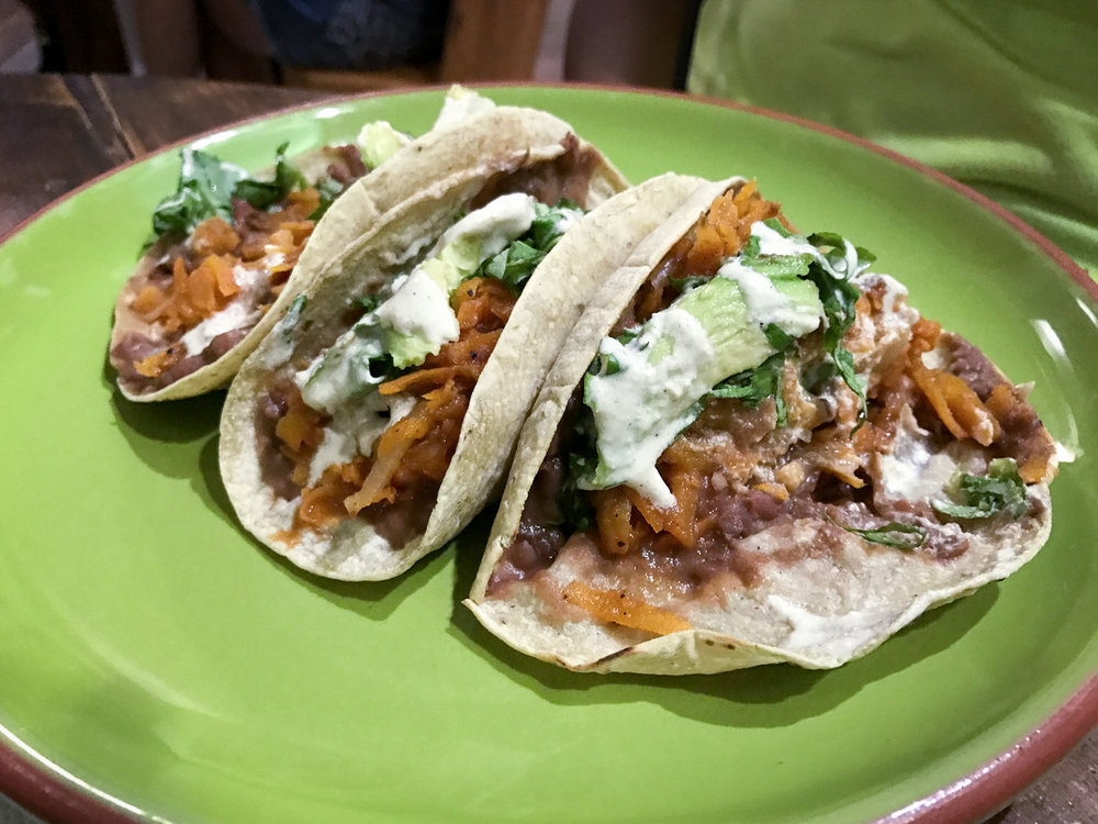 Vegan-Tacos-de-Tinga-at-La-Senda-Vegana-restaurant-in-Playa-del-Carmen