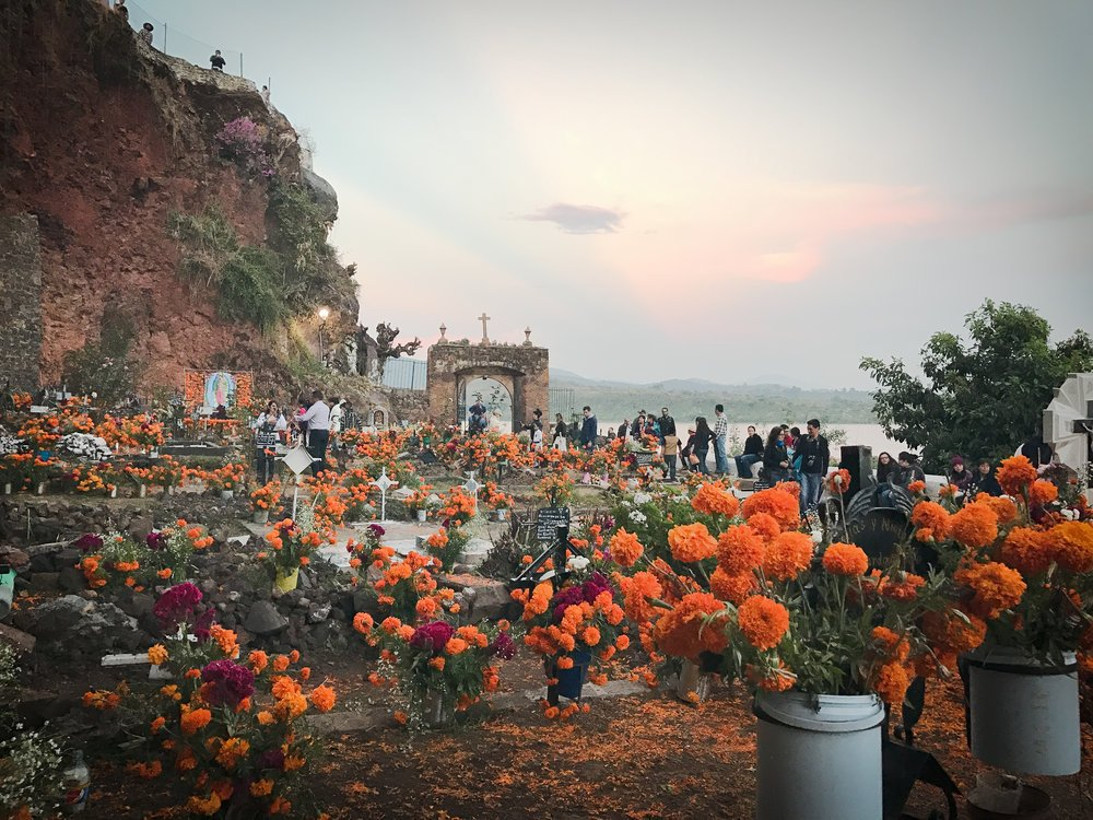 The famous cemetery during Day of the Dead on the Island of Janitzio, Michoacan.