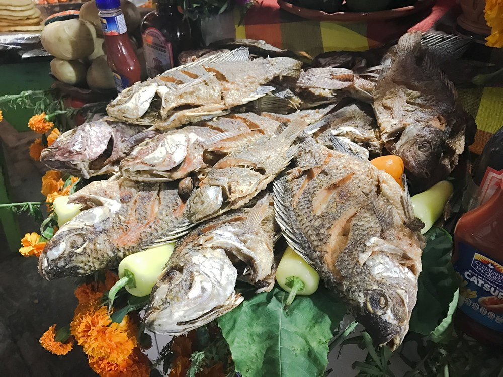 Fried fish on the island of Janitzio.