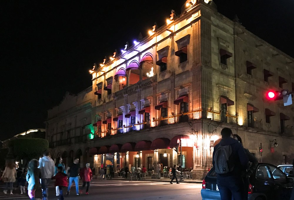 The Virrey de Mendoza Hotel in Morelia, Michoacan.