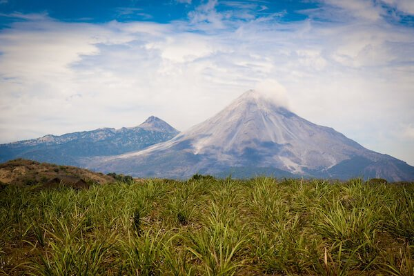 The Volcanos of Colima, Mexico -