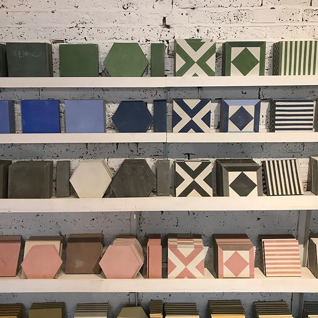 Picking out tiles for our new tiny terrace ❤️