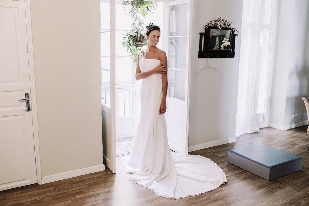 Prueba vestido de novia en Atelier Juan Moiña Alta Costura