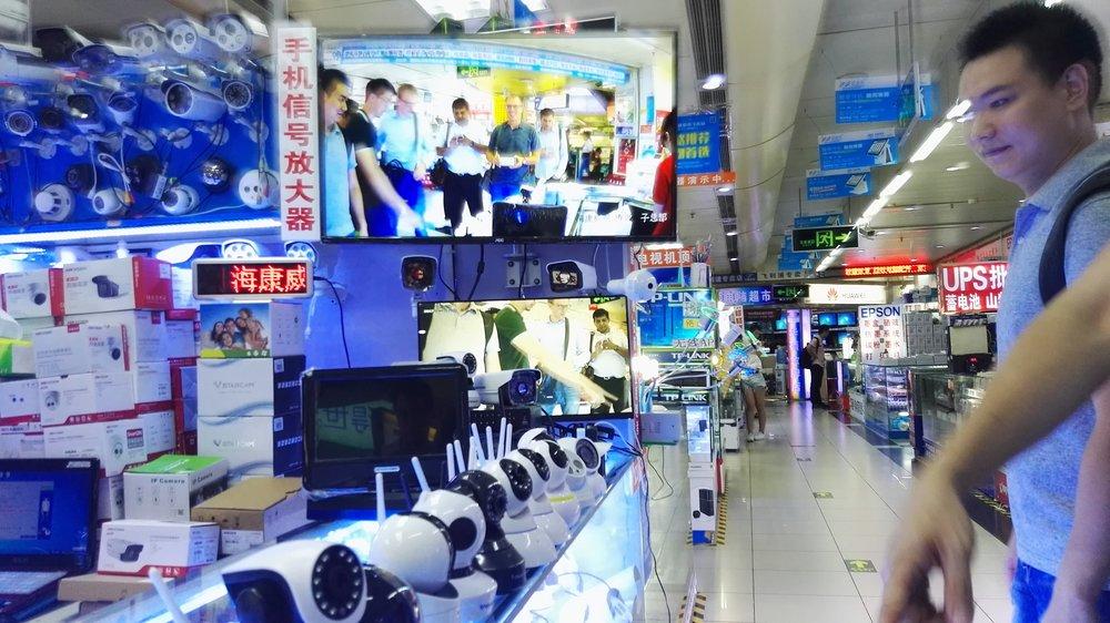 A hardware market in Shengzen.