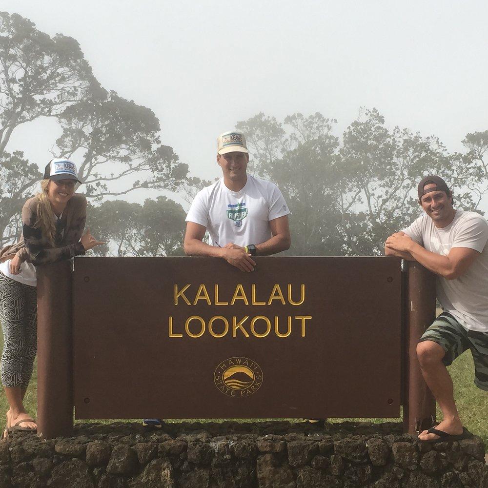 Juliana, Makani, and Josh at Kalalau