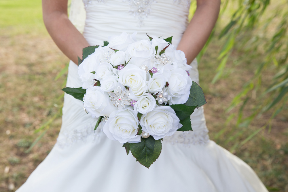 silk artificial wedding bouquet wedding photographer melbourne dandenong ranges victoria
