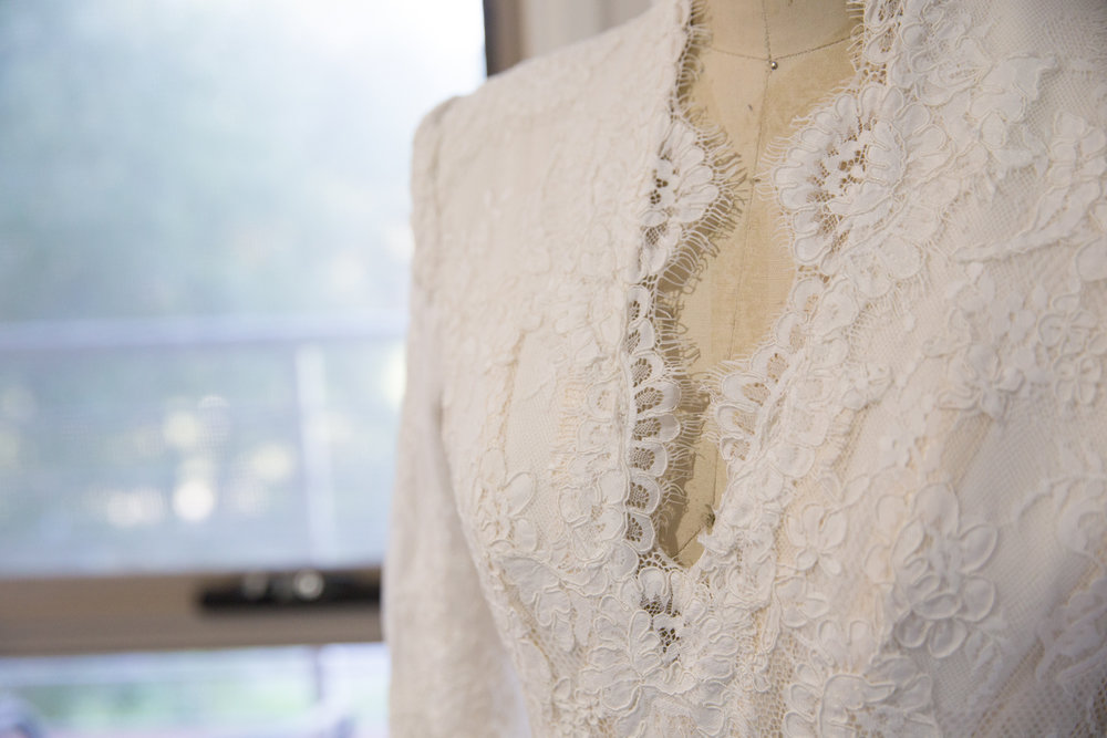 Four Daisies wedding photographer Melbourne, Pitra Designs wedding dress, couture wedding dress design with lace detail