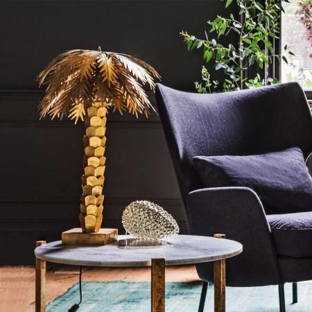 Golden Palm Lamp