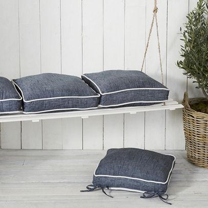 image: The White Company,  Aubury piped seat pads