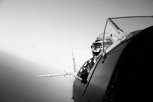 Over the Firth of Forth. Timeless.  #tigermoth #biplane #photography #aerial #historic #vintage #documentary #sea #ocean #fly #aviation #scotland @visitscotland #pilot #aeroplane #airplane #toy #blackandwhite #b+w #edinburgh