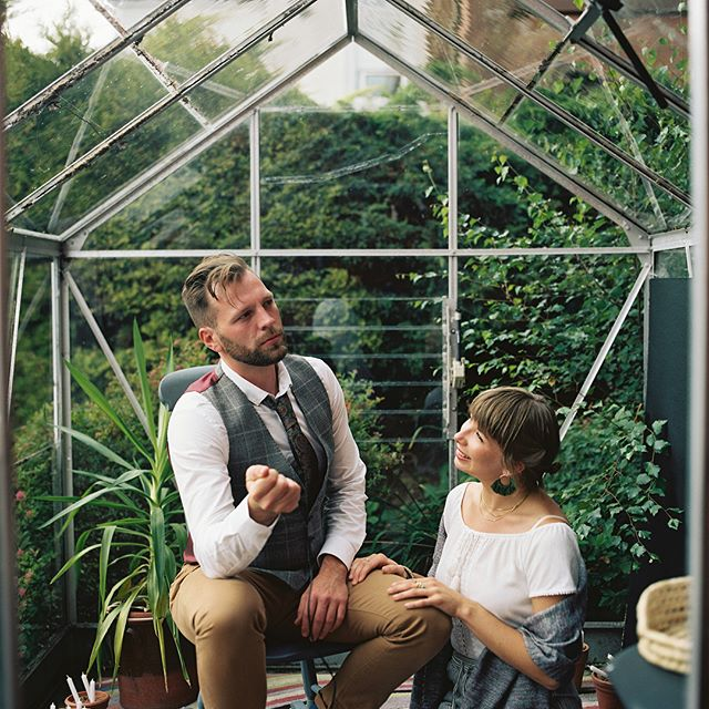 Here is a wee selection from the series I made for the guestbook at Tom and Aleks' wedding. Guess the captions... #wedding #photography #portrait #photobooth #film #filmphotography #filmisnotdead #portra #kodakportra #kodak @kodak #hasselblad #500cm #500c/m #greenhouse #garden #cactus #house #glasshouse #couple #adventure