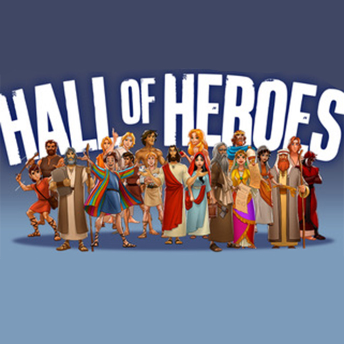 Hall of Heroes. Featuring messages on: Abraham, Elijah, Elisha, Lydia, The Lepers, Jonathon, Joseph, Samson and Esther