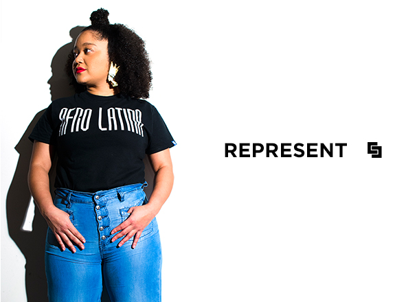 Thanks to this Afro-Colombian beauty and her custom request, this tee is now available for all proud Afro-Latinas!