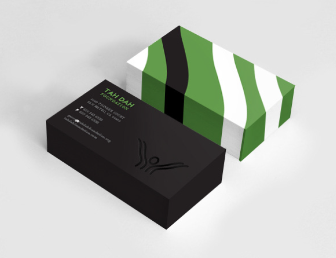 Standout business cards.