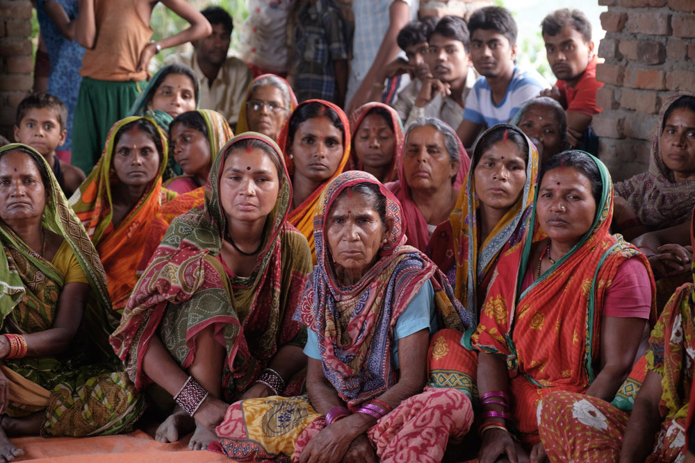 Members of the women's group in the village of Dharmanagar, Nepal. (Photo by Gerry Kerr)