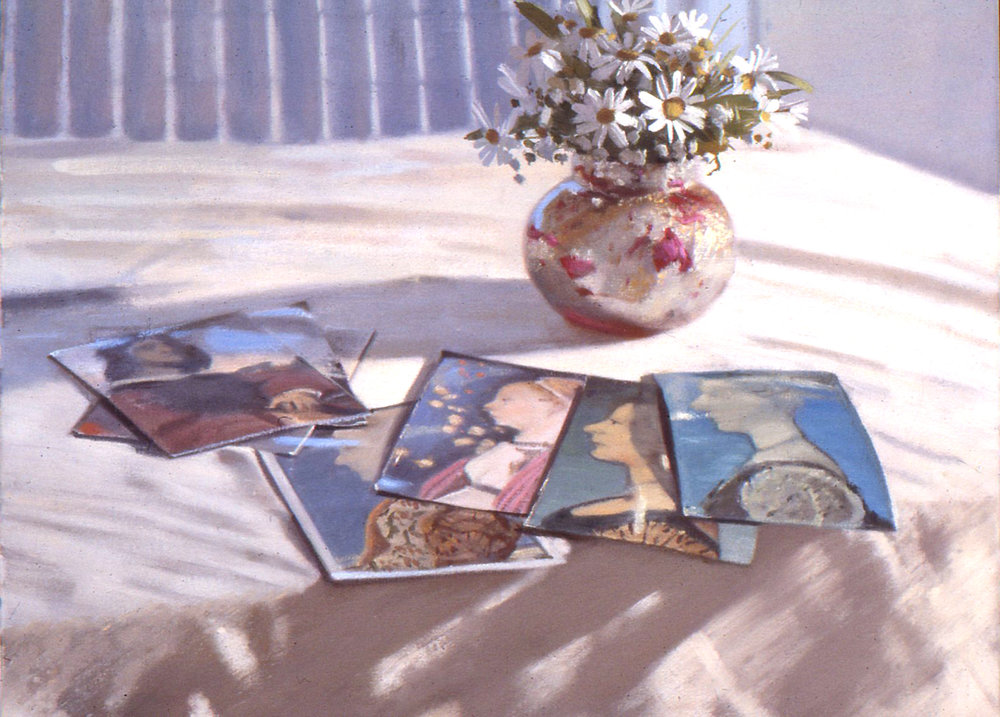 Flowers and postcards