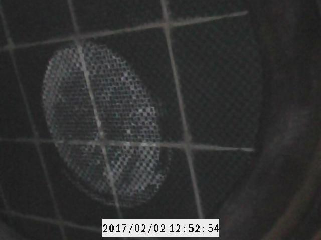 Inspektionsbild av filtersubstratet med ett boroskop.