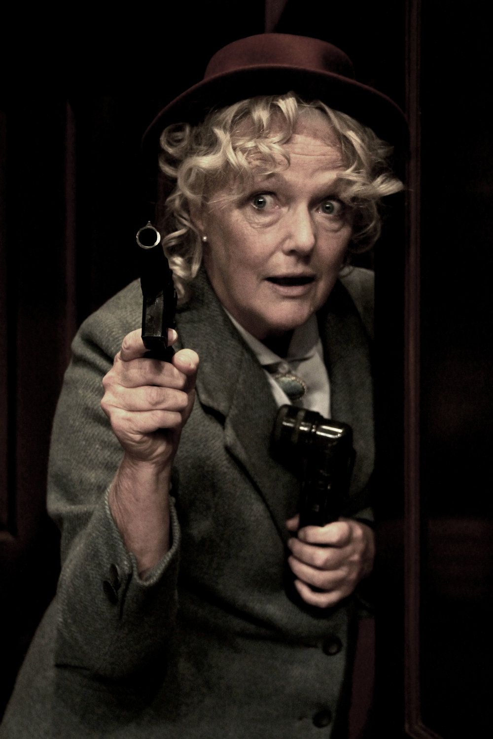 Louise Jameson as Miss Marple in A Murder Is Announced.jpg