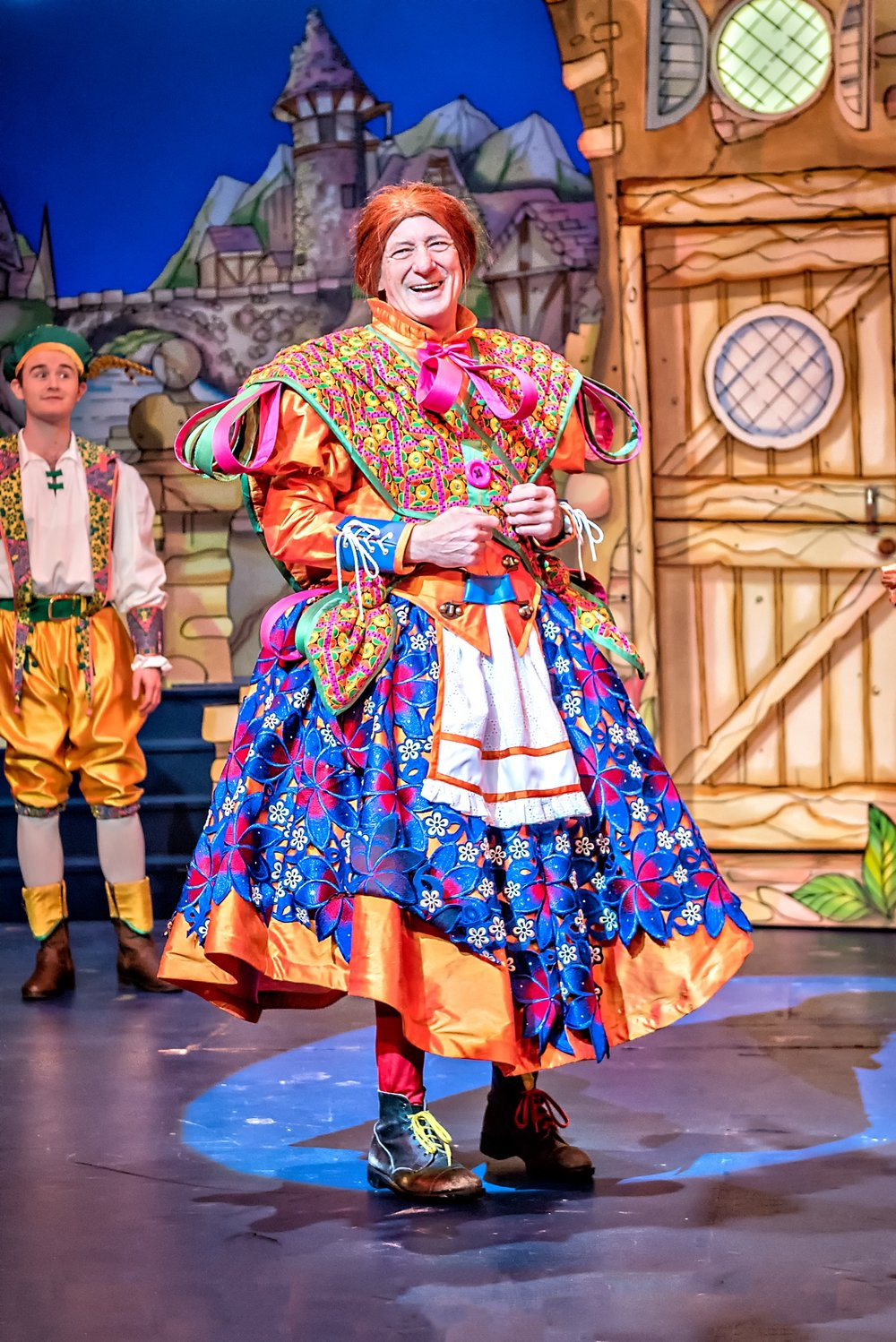 Dame Berwick Kaler in Jack & the Beanstalk (2017-18) Photo Anthony Robling.jpg