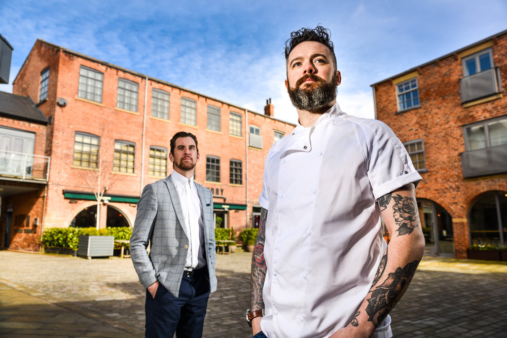General Manager Iain Silver with owner and Head Chef Matt Healy at The Foundry.jpg