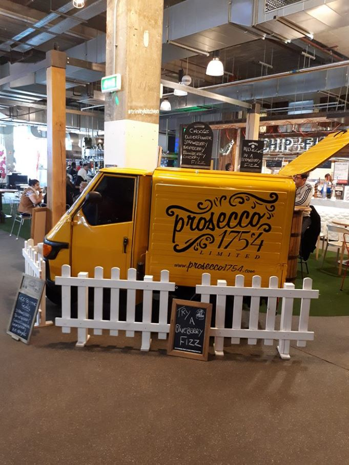 Vincenzo the Prosecco Van is staying on at Trinity Kitchen, providing visitors with a refreshing glass of prosecco with a range of fruity flavour combinations.