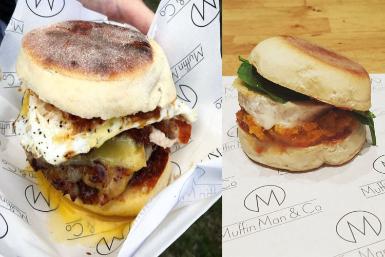 Award-winning  Muffin Man and Co  is offering homemade English muffins, filled with delicious British produce, from slow roasted pork belly and smoked salmon, to its signature bacon jam.