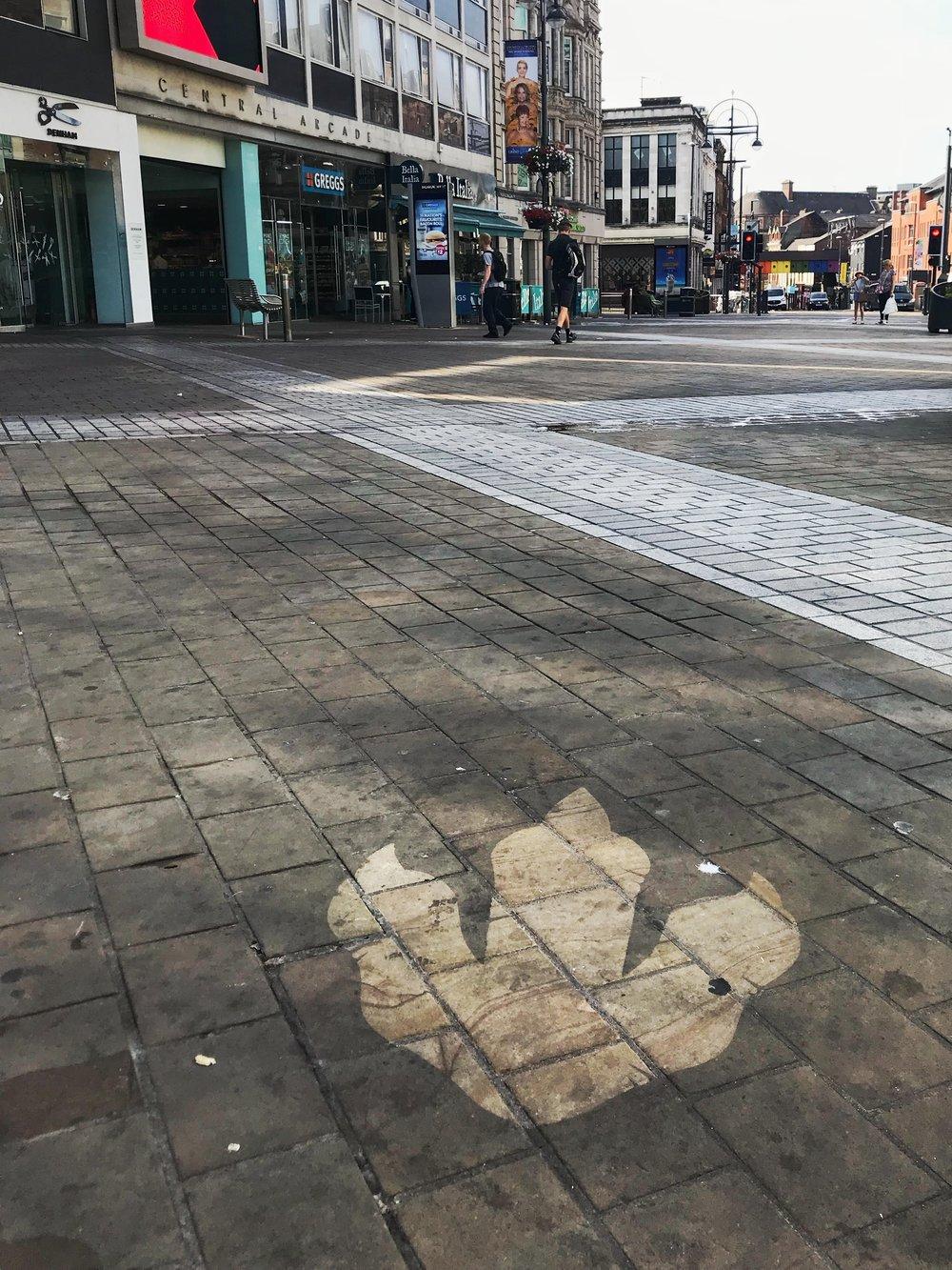 T-Rex footprint on Briggate.jpg