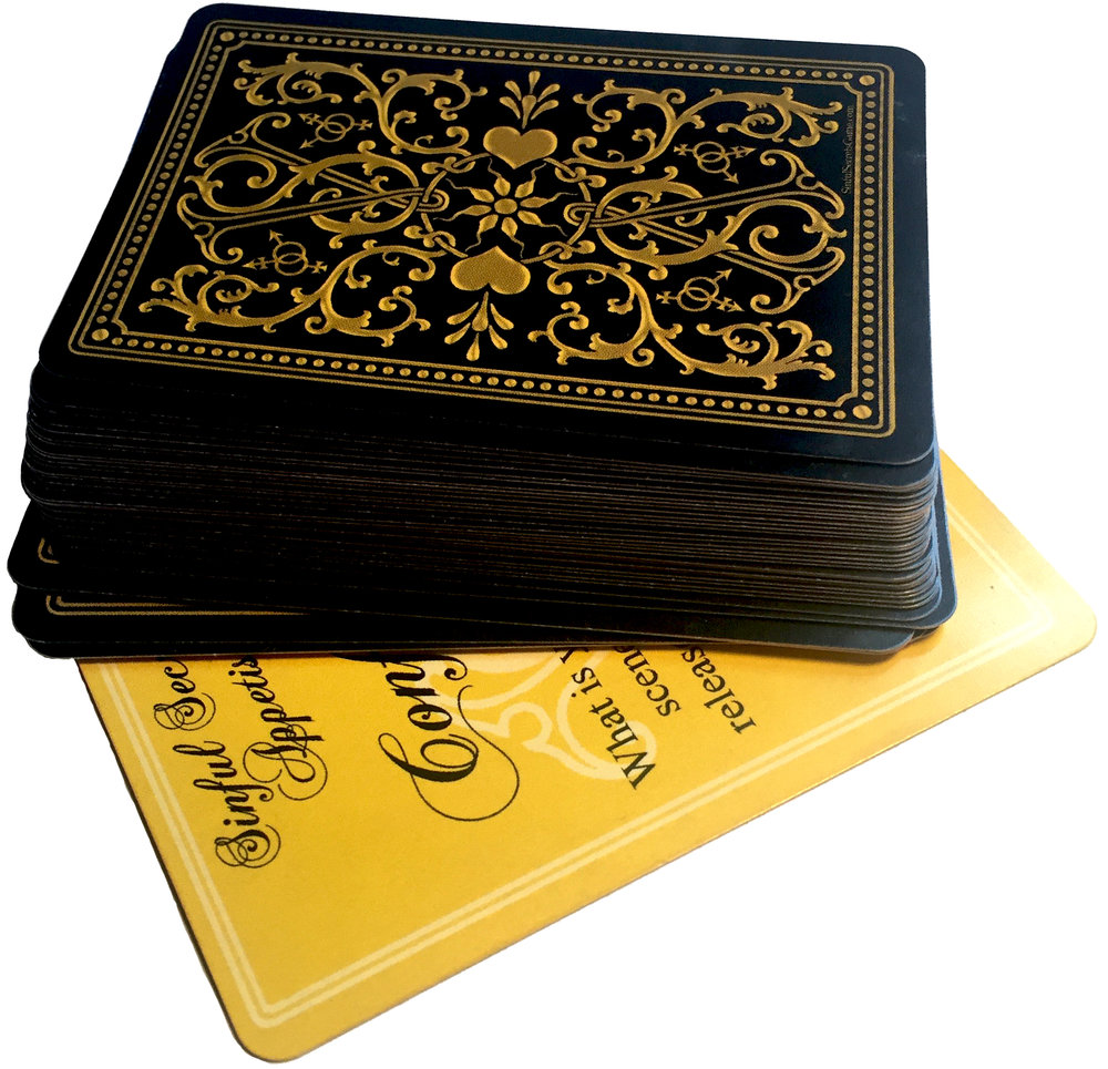 The poker-sized deck of 34 cards, with rules and score sheet, is small and light enough to keep with you at all times, to make sure you're the one with the great idea and always have the means to get the party started.