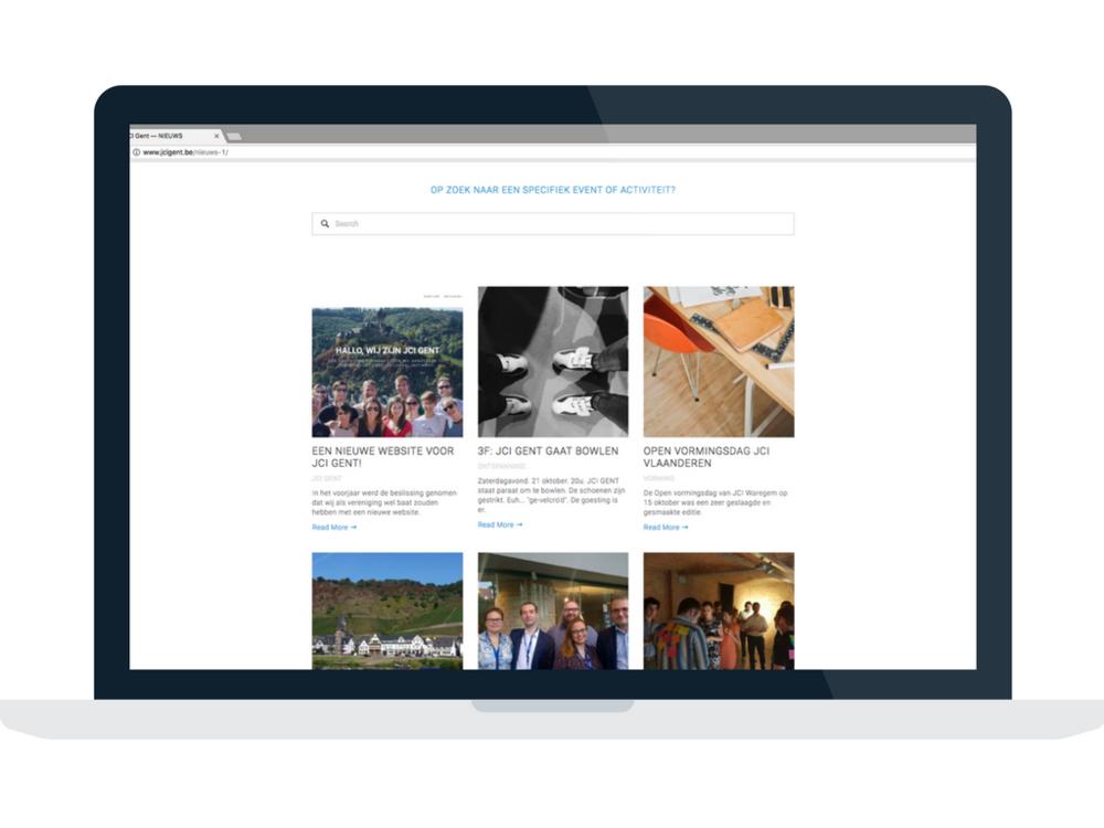 JCI GENT nieuwe website