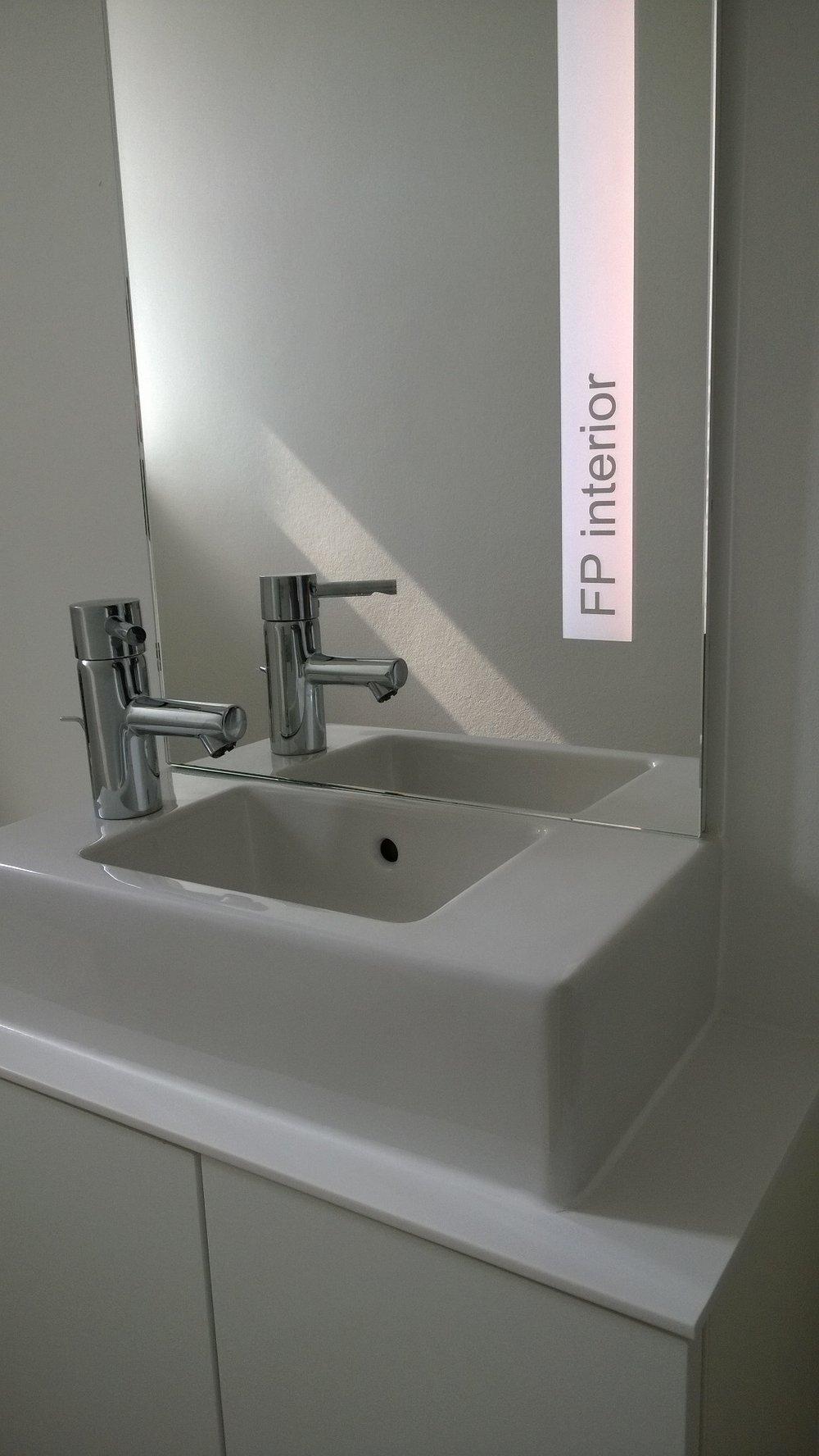 Spiegel teilsandgestrahlt