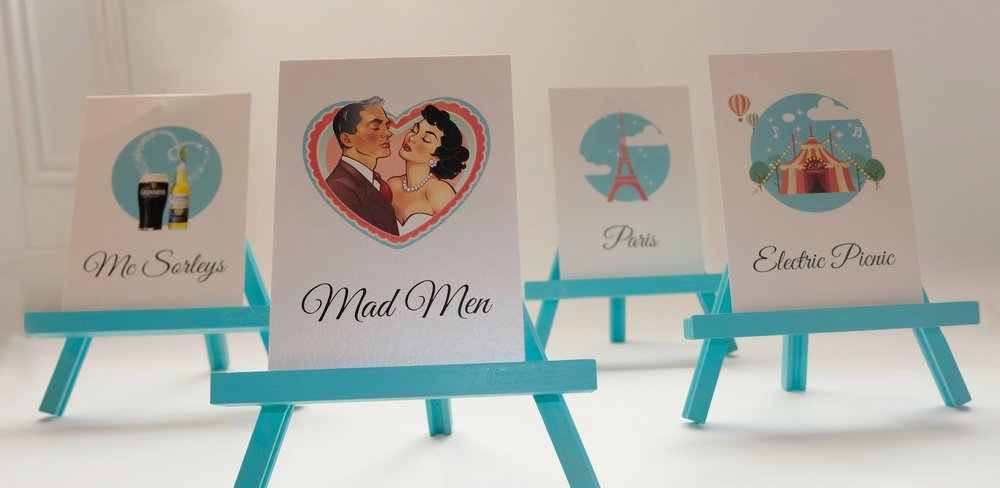 Perfect Moments LB Table names / Table Numbers