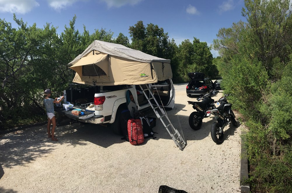 Camping in the Florida Keys on a kitesurfing vacation